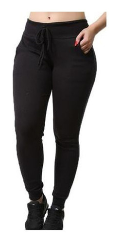 Calça Feminina Ribana Jogger Com Lycra Plus Size 44 Ao 52