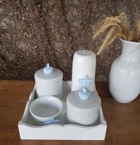 7781483a8 Kit Higiene Bebe Porcelana Menino Principe - Bebês no Mercado Livre ...