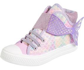 Tenis Star Kids Escama Calda Sereia Infantil Fashion