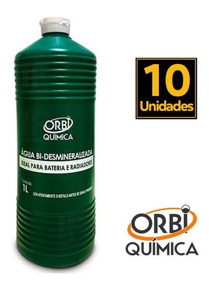 Agua Desmineralizada Incolor Radiador E Bateria 10 Litros