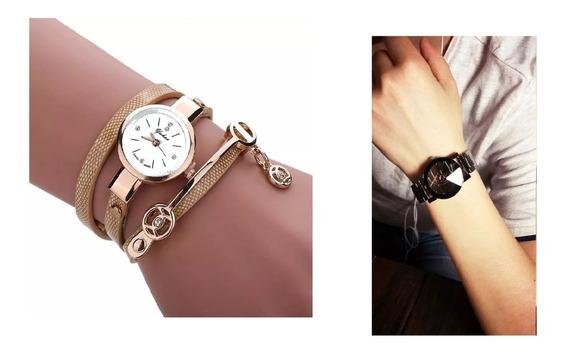 Kit Casal 1 Relógio Masculino+ 1 Relógio Feminino Da Moda