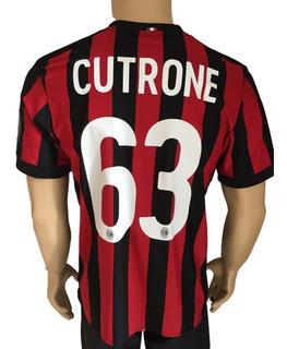 Jersey Milán adidas 2017 2018 Local Número Cutrone C Parched