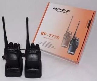 Rádio Comunicador Walk Talk Baofeng 777s Alcance 4km + Fone