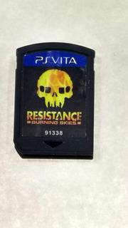 Resistance Burning Sky Para Ps Vita En Gordito Coleccionable