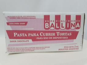 Pasta Ballina P/cubrir Tortas 3kg Choco/vainilla X4u