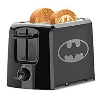 Tostadora De Dc Batman De 2 Cortes Rebanadas Negro
