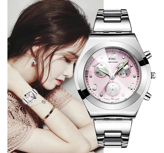 Nuevo Reloj Platinum Bloom Elegant! Contra Agua! Inoxidable