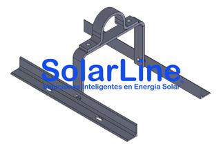Soporte Pivotante Para Panel Solar De 20wp O Similar