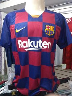 Camisa Barcelona Quadrícula Nike 2019/2020