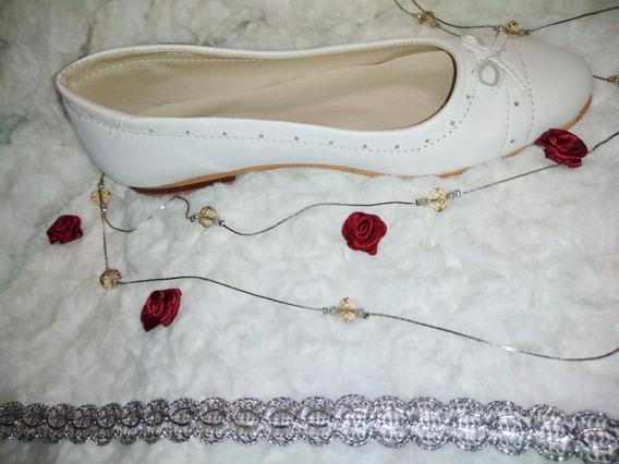 Zapatos Blancos Fiesta O Comunion