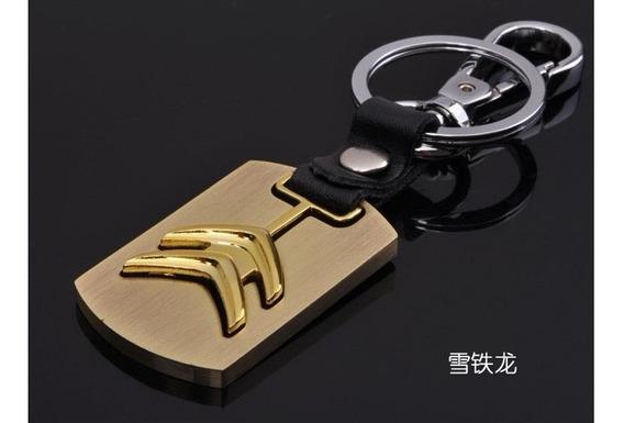 Chaveiro Citroen Dourado & Escovado !!! Fantástico !!!