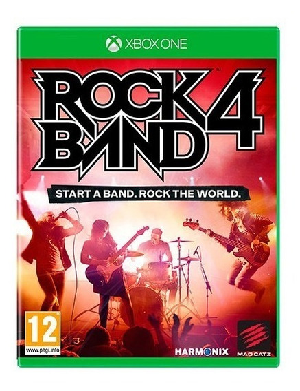 Jogo Rock Band 4 Xbox One Rockband 4 - Mídia Física Lacrado