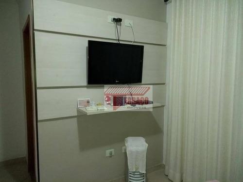 Imagem 1 de 12 de Cobertura Com 3 Dormitórios À Venda, 75 M² Por R$ 480.000,00 - Vila Pires - Santo André/sp - Co0557