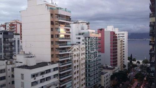 Apartamento Com 3 Dormitórios À Venda, 135 M² Por R$ 1.350.000,00 - Icaraí - Niterói/rj - Ap1106