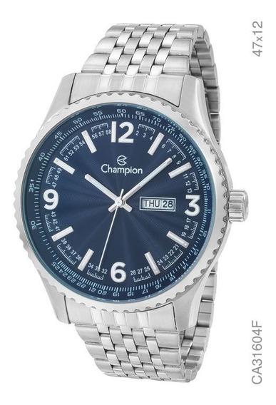 Relógio Champion Masculino Ca31604f Aço Prata Original Novo