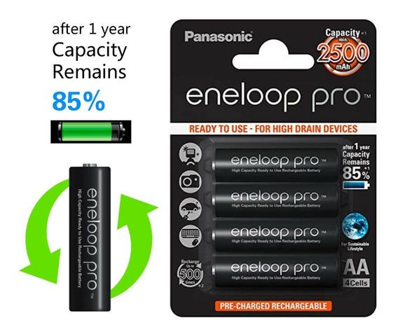 4 Pilhas Panasonic Eneloop Pro Aa 2500mah
