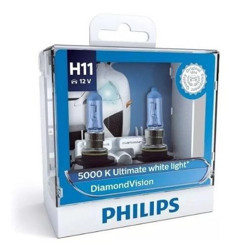 Par Lâmpadas Philips Diamond Vision 5000k H11 100% Original