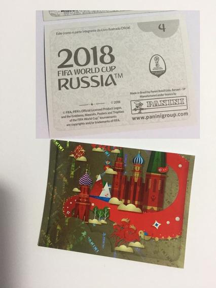 Figurinha Numero 4 Álbum Copa Russia 2018 Cromada