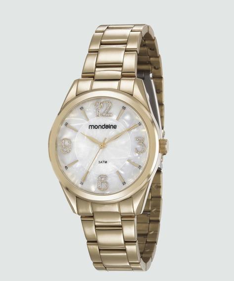 Relógio Mondaine Feminino Dourado Madreperola 83387lpmvde1