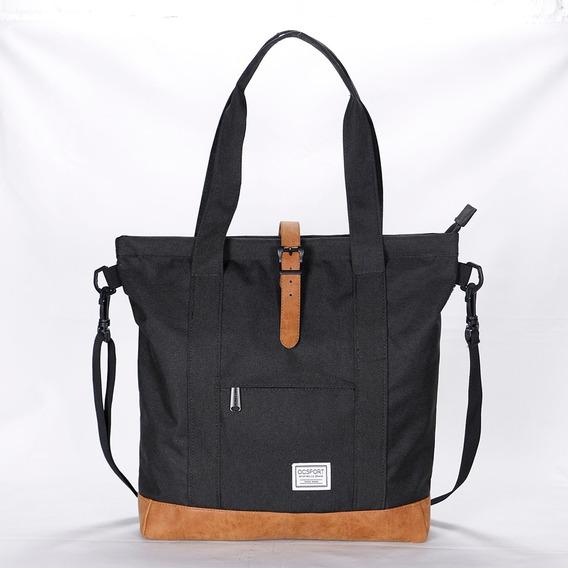 Shopping Bag Ocsport - Bolso Cartera Dama Negro