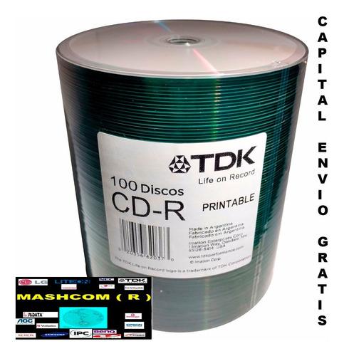 Cd Virgen Tdk  Printable  X 100-( Envio Por Mercadoenvios )