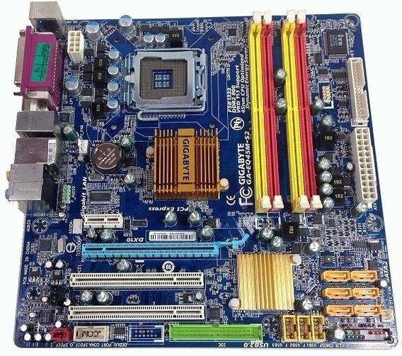Placa Mãe 775 Ddr2 Gigabyte Ga-eq45m-s2 Até Quad Core 16gb