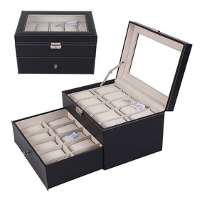 Porta Relojes 20 Unidades Caja De Lujo Relojes Hombre Mujer
