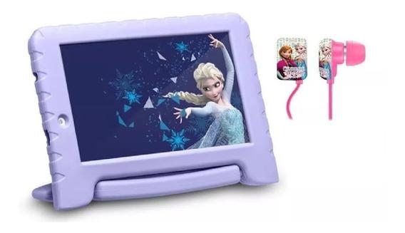 Tablet 16gb Capa Emborrachada Frozen Com Fone Tela 7