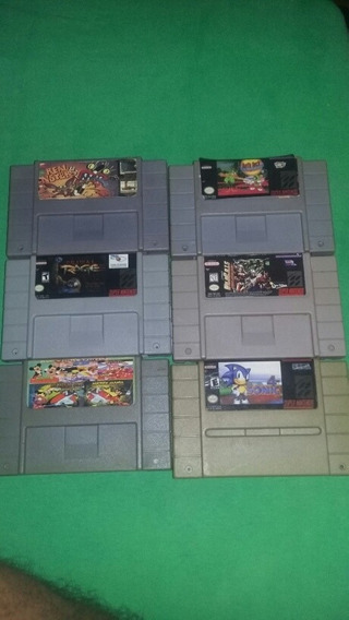 Jogos De Super Nintendo (lote)