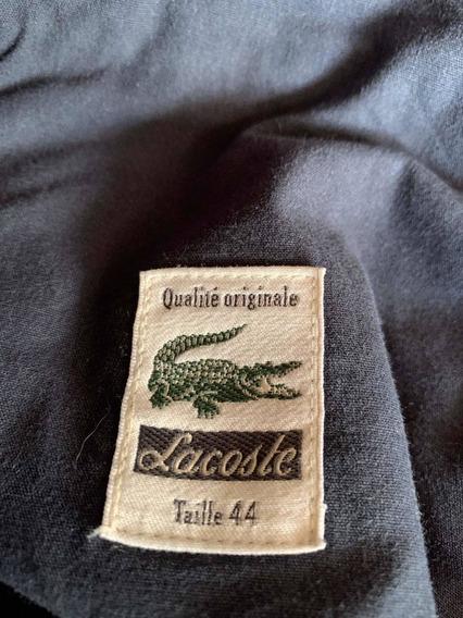 Pantalón Gabardina Azul. Lacoste. Usado. Impecable Estado