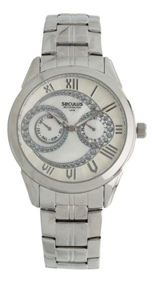 Relógio Feminino Seculus 48054l0sfns1 Prata