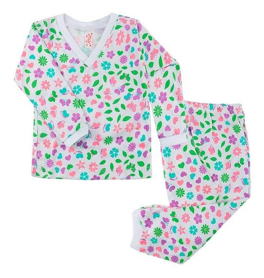 Kit 5 Pijamas Menina Longo Baby Doll Infantil Bebê