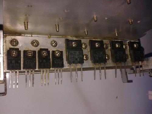 Aiwa Nsx-f12 Dissipadora Com Transistores Saidas
