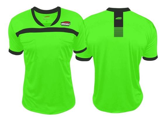 Camisa Arbitro Futebol Futsal Verde Limão Ideias Original