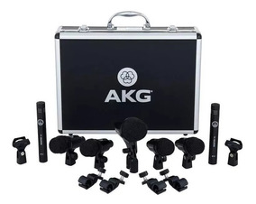 Kit De Microfones P/ Bateria Akg Drum Set Session 1 Original