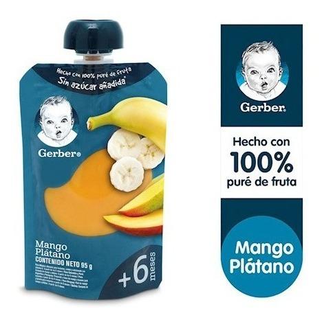 Compota Gerber® Plátano Mango Sachet 95g