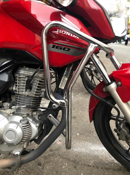 Protetor Motor Carenagem Cromado Honda Titan / Fan 150 / 160
