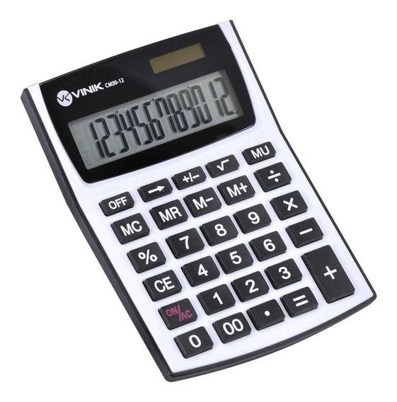Calculadora De Mesa 12 Dígitos Solar Ou A Pilha Cm30-12