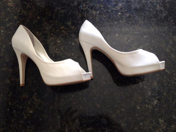 Sapato Estilo Peep Toe De Noiva Maravilhoso!!!
