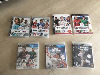 Juegos Ps3 Baratos Fifa Mlb De Colección. En Mano.