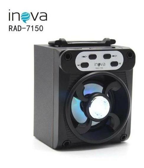 Caixa Som Bluetooth Usb Rádio Fm Sd Inova Portátil Rad-7150
