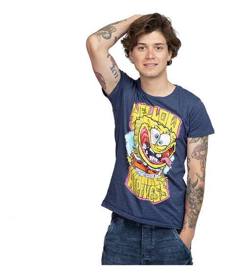 Playera Hombre Color Of Happiness Licencia Nickelodeon