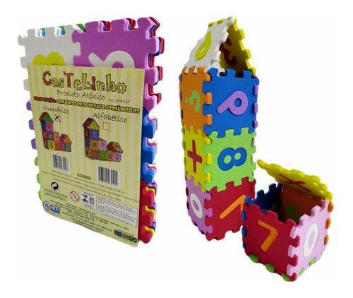 Brinquedo Pedagógico Educativo Castelinho Numérico Em Eva