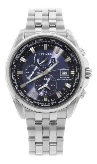 Relógio Citizen At9030-80l Atomic Radio Control World Time