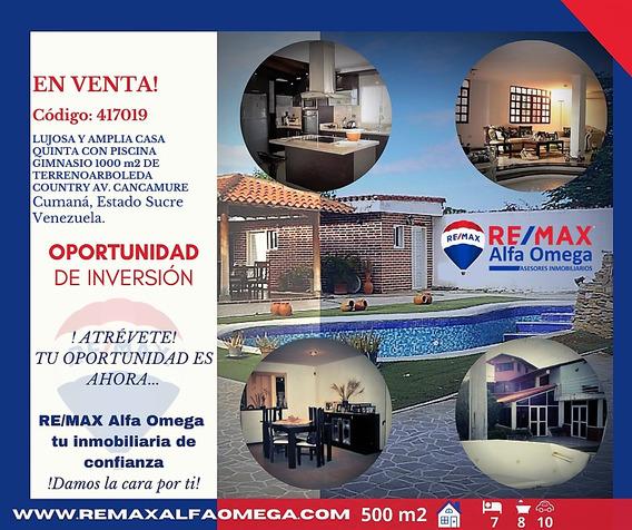 Lujosa Casa Con Piscina Arboleda Country 1000 M2 De Terreno