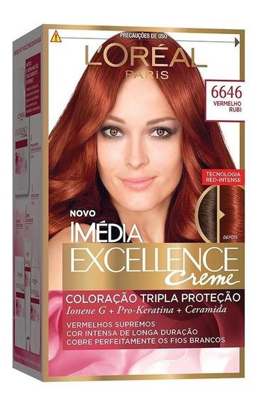 Coloração Imédia Excellence Creme - 6646 Vermelho Rubi