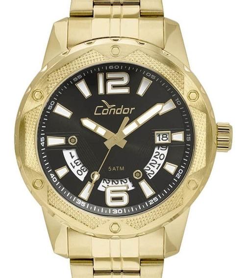 Relógio Condor Dourado Masculino Caixa Xgg Original Garantia