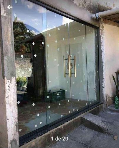 Imagem 1 de 1 de Porta De Vidro Temperado Incolor Completa