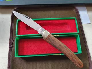 Canivete Antigo Puma Solingen Estojo Original Raro Sem Uso