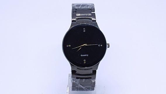 Relógio Ck Feminino Preto Onix Pedras Frete Gratis Promocao